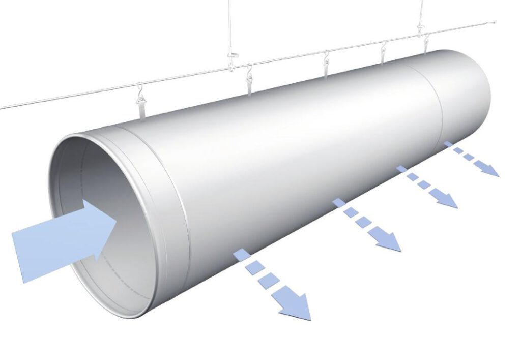 So funktioniert ein textiles Luftverteilsystem.